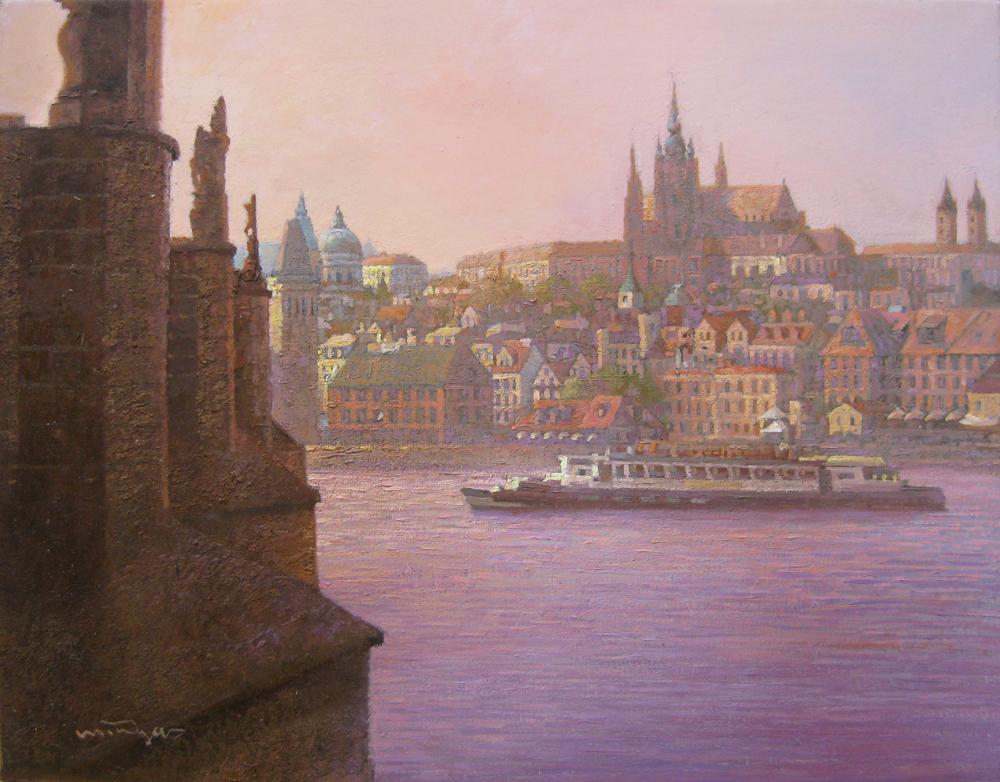 F6カレル橋のある風景(プラハ)974