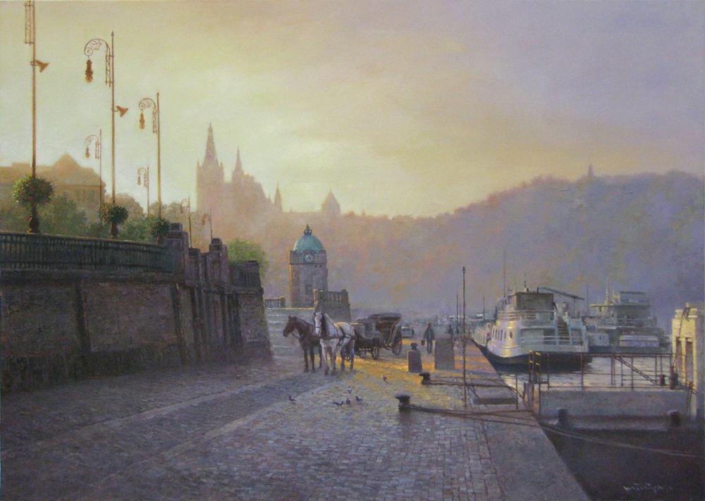 P30プラハ城の見える風景 1009