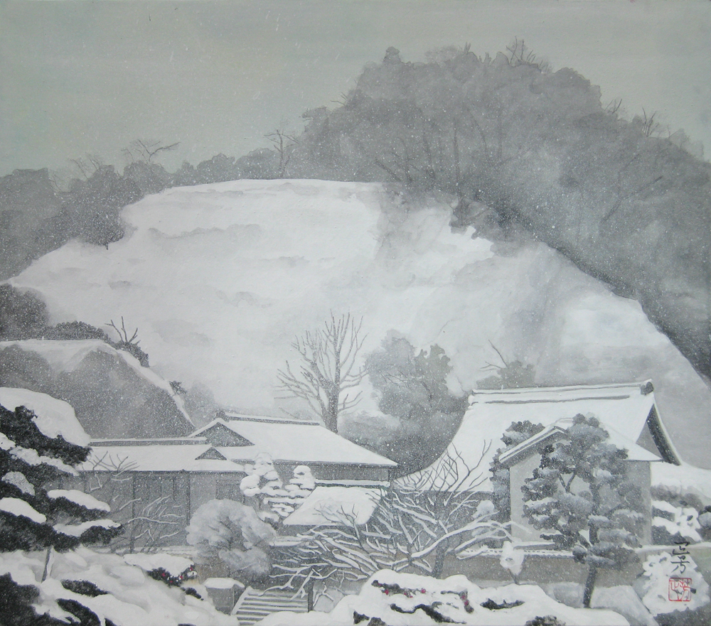F10  雪の鎌倉(成就院)
