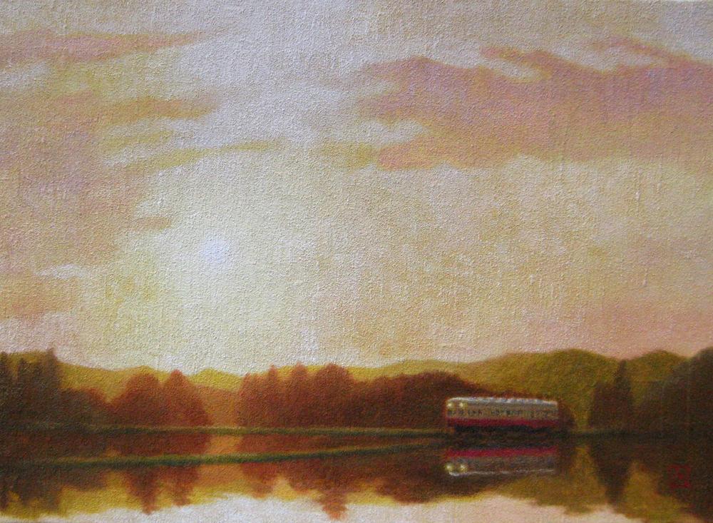 F4 夕焼けの列車
