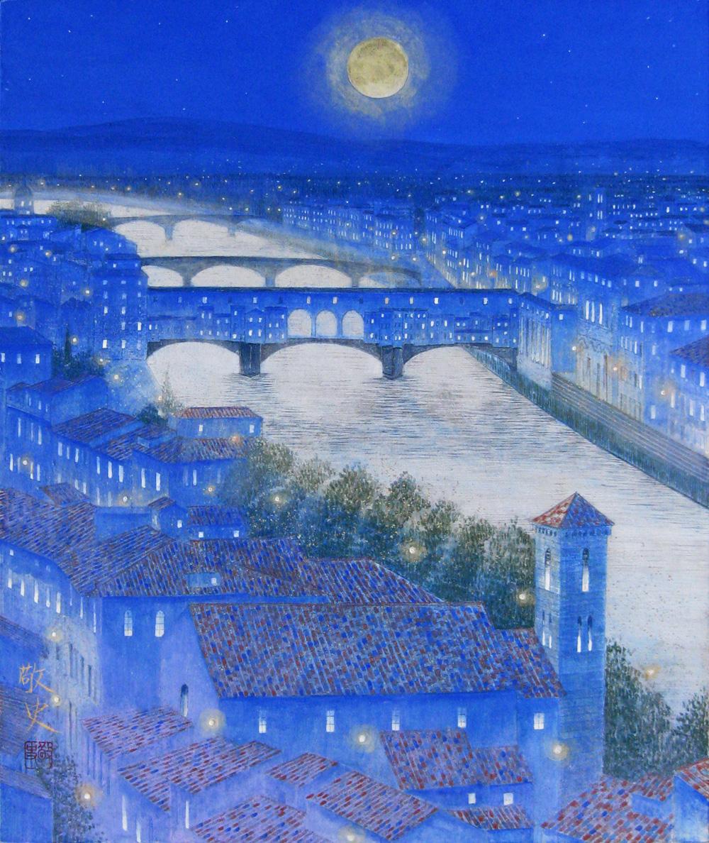F8ベッキオ橋の夜