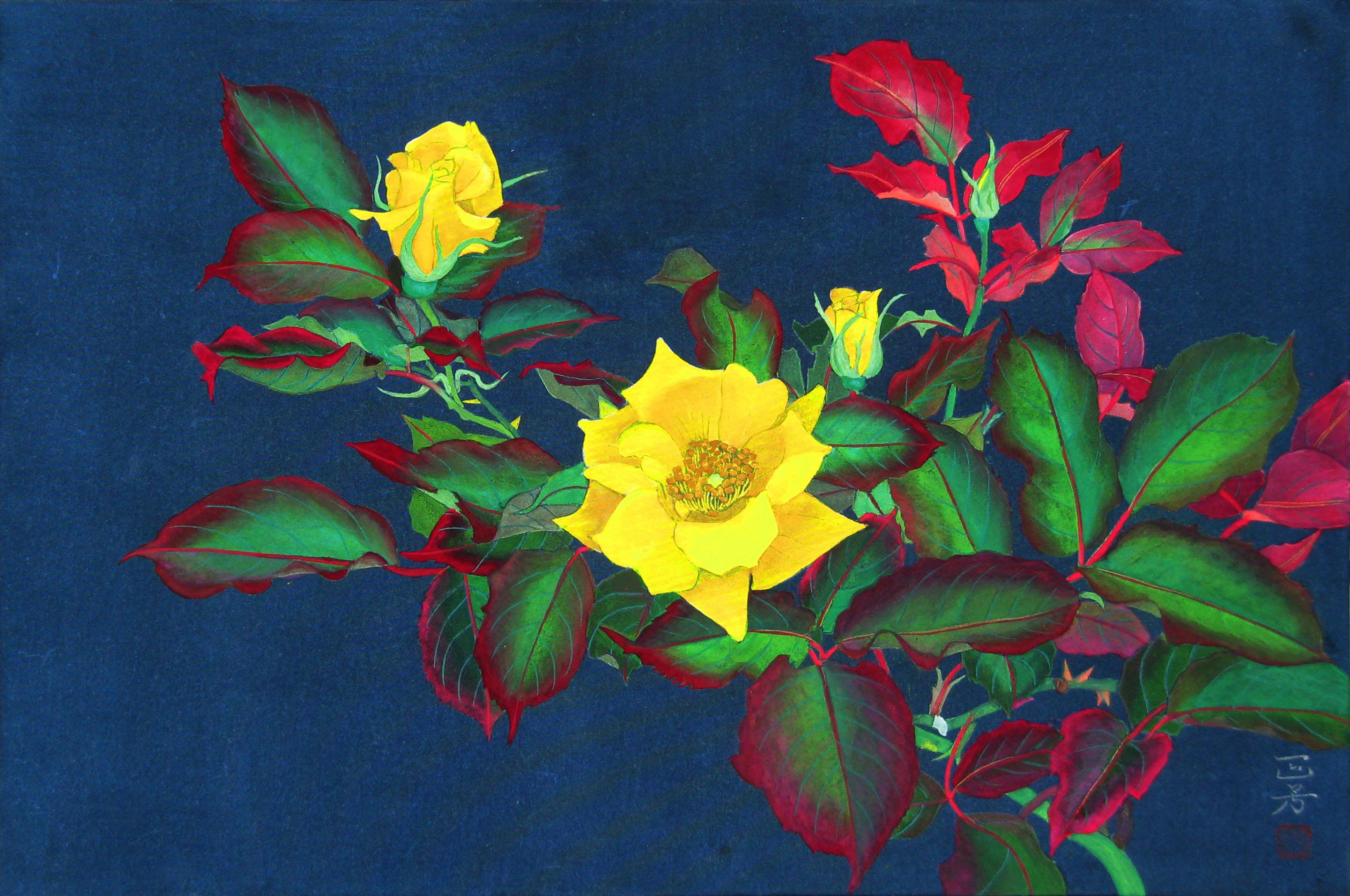 P6黄色の薔薇