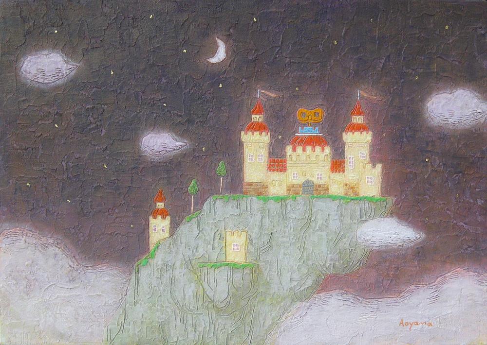 P6  崖の上の城
