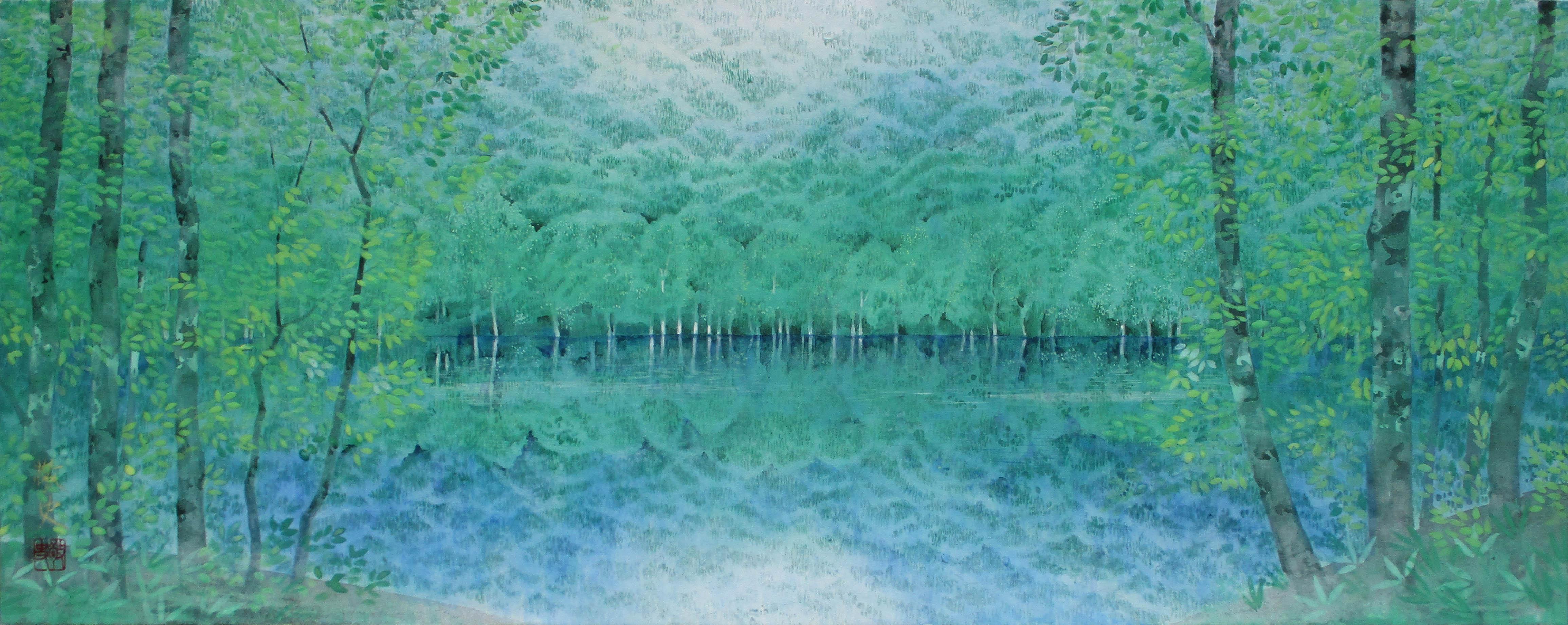 727×290(変20) 朝霧の森